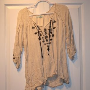 Maurices XL 3/4 Sleeve Peasant Top